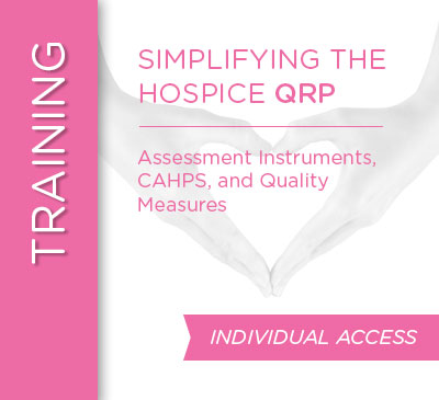 Simplifying the Hospice QRP Web Class - September 15, 2020