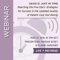 March Home Health Webinar - Just In Time - LIVE + RECORDED