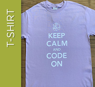 Keep Calm & Code On - Size M
