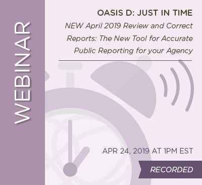 Review and Correct Reports: The New Tool for Accurate Public Reporting for Your Agency - April 2019